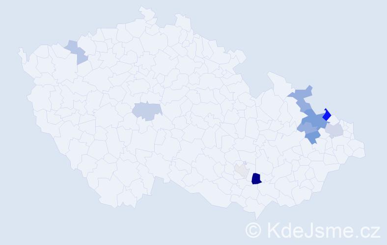 Příjmení: 'Esslerová', počet výskytů 41 v celé ČR