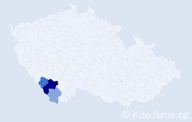 Příjmení: 'Hundsnurscher', počet výskytů 11 v celé ČR