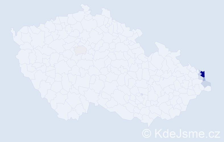 Příjmení: 'Brecherová', počet výskytů 22 v celé ČR