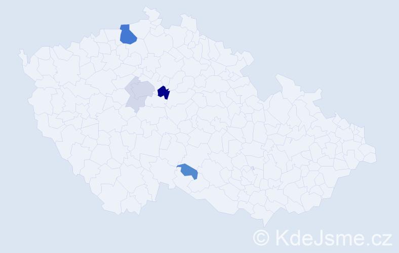 Příjmení: 'Herych', počet výskytů 20 v celé ČR