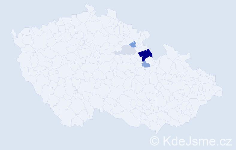 Příjmení: 'Laliová', počet výskytů 9 v celé ČR