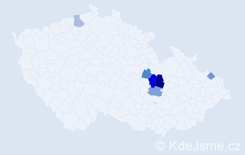 Příjmení: 'Getzelová', počet výskytů 8 v celé ČR