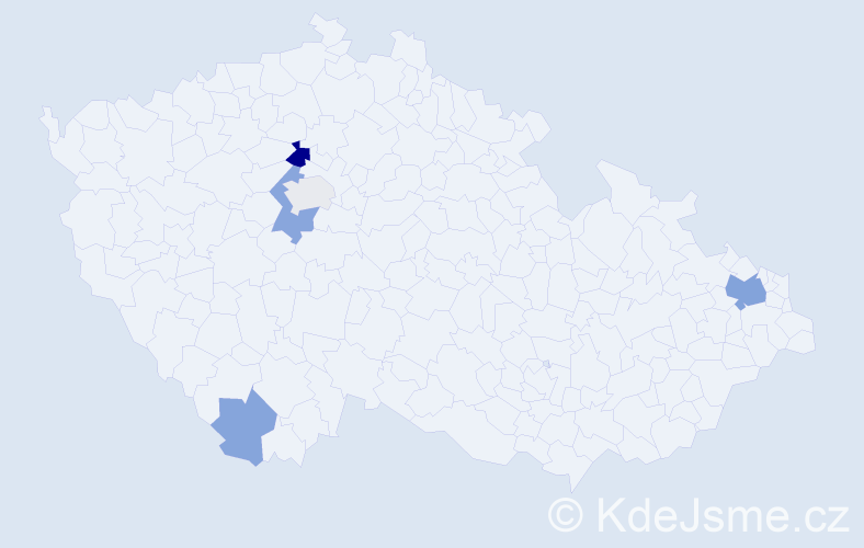 Příjmení: 'Hardt', počet výskytů 12 v celé ČR