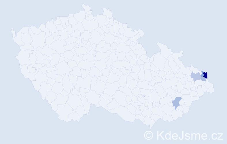 Příjmení: 'Ihazová', počet výskytů 11 v celé ČR