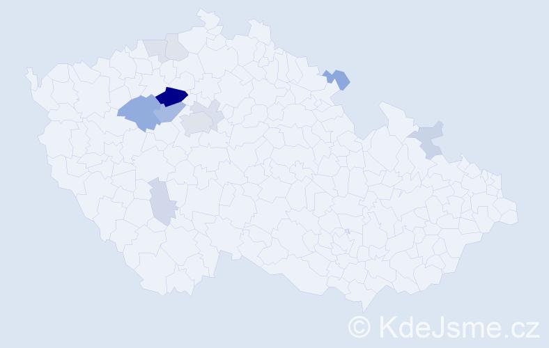 Příjmení: 'Chyský', počet výskytů 31 v celé ČR