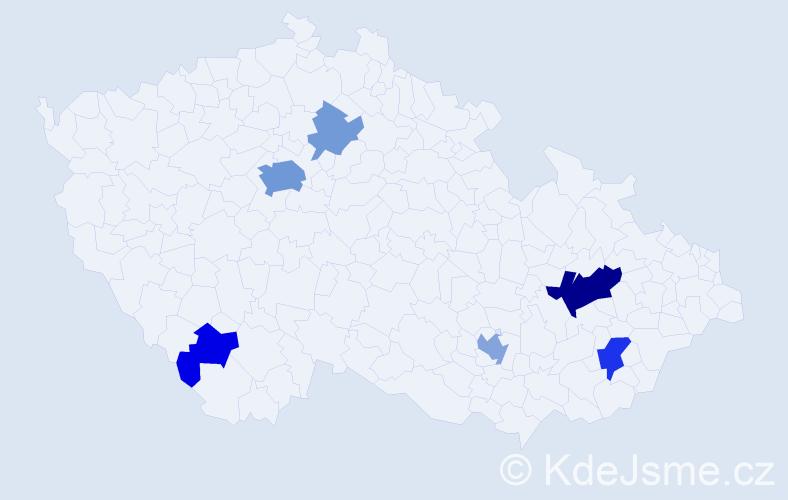 Příjmení: 'Graham', počet výskytů 18 v celé ČR