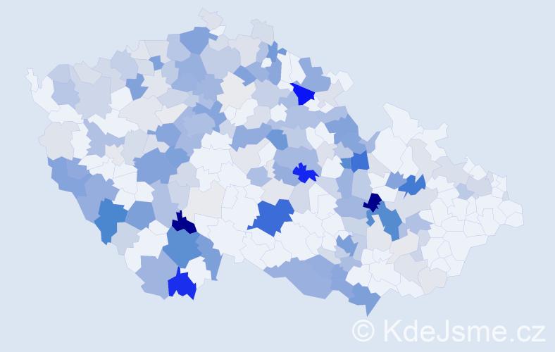 Příjmení: 'Hubený', počet výskytů 694 v celé ČR
