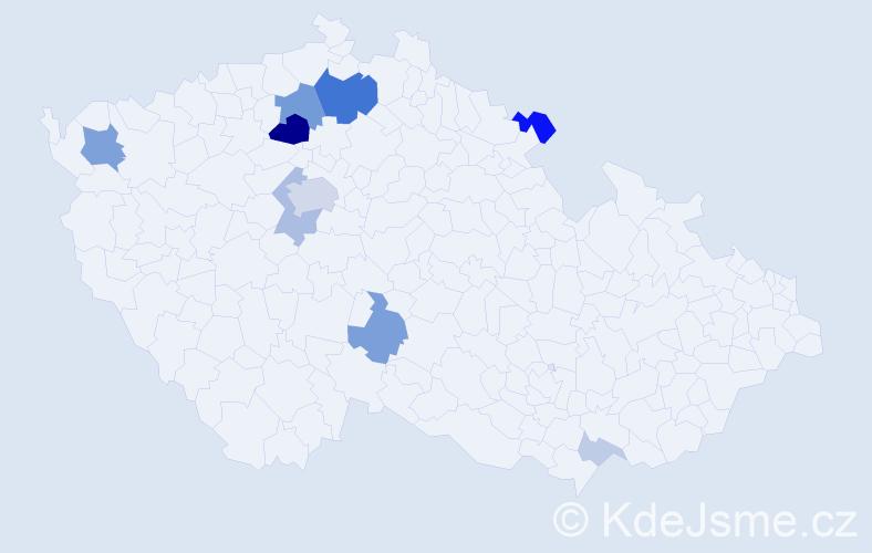 Příjmení: 'Krolopová', počet výskytů 31 v celé ČR