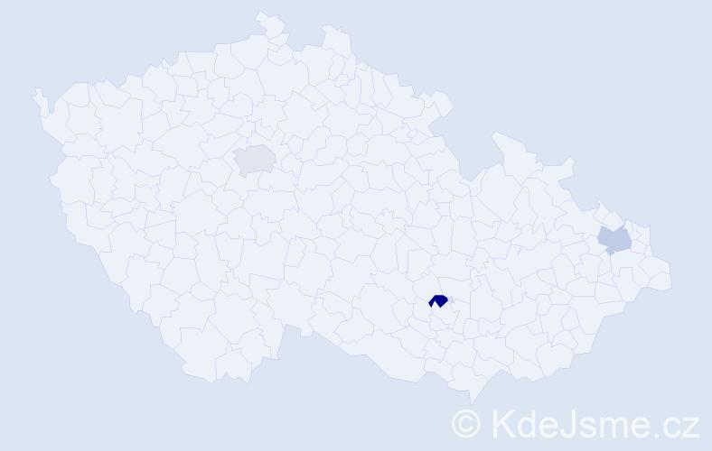 Příjmení: 'Hakobyanová', počet výskytů 3 v celé ČR