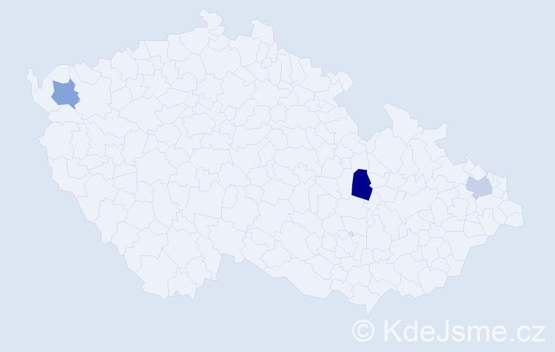 Příjmení: 'Blcha', počet výskytů 7 v celé ČR