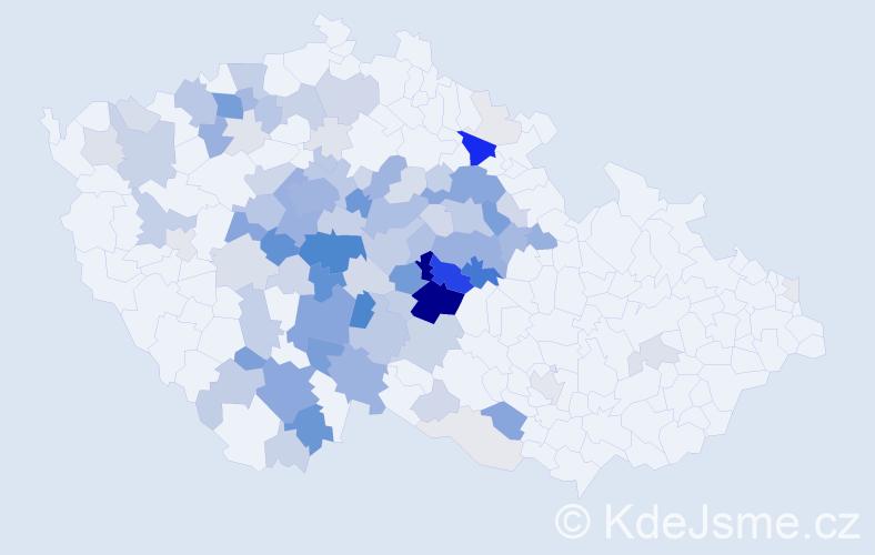 Příjmení: 'Benáková', počet výskytů 373 v celé ČR