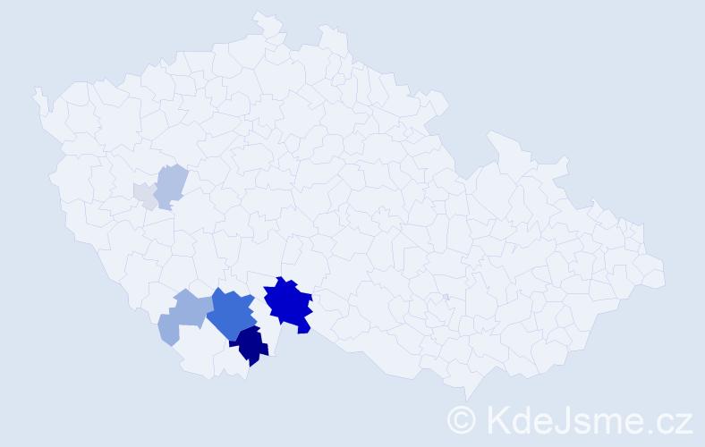 Příjmení: 'Imber', počet výskytů 23 v celé ČR