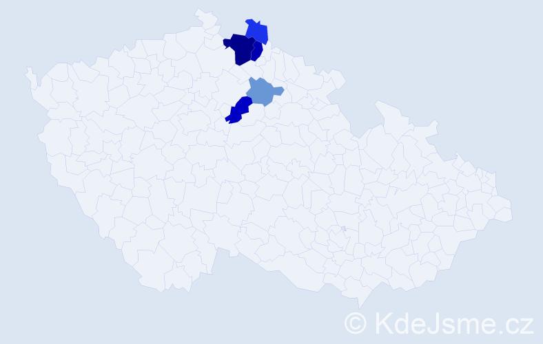 Příjmení: 'Chlomková', počet výskytů 13 v celé ČR