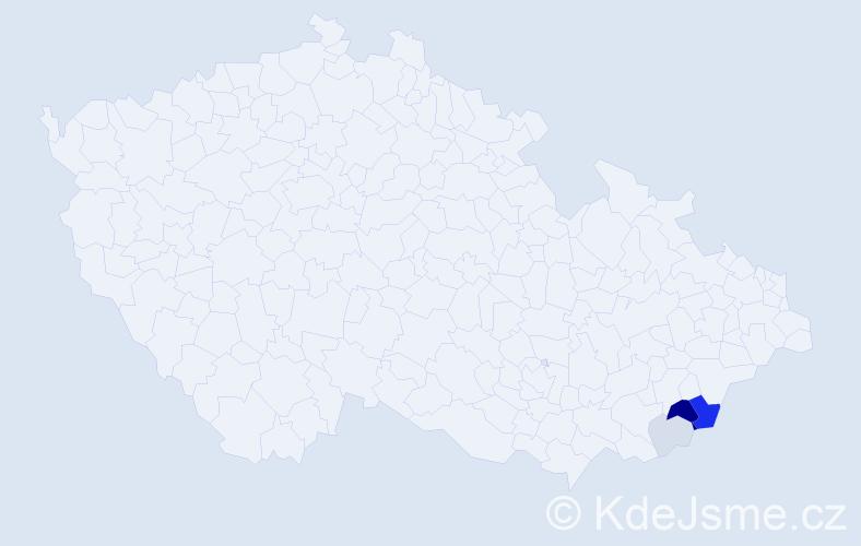 Příjmení: 'Častulová', počet výskytů 14 v celé ČR