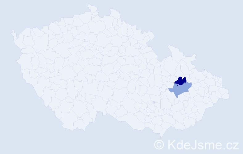 Příjmení: 'Kalfert', počet výskytů 6 v celé ČR