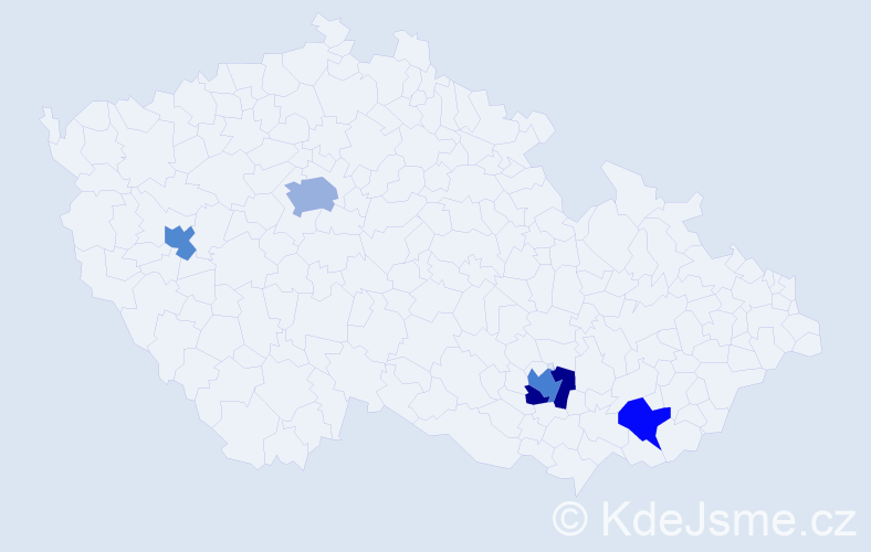 Příjmení: 'Eberhardová', počet výskytů 7 v celé ČR