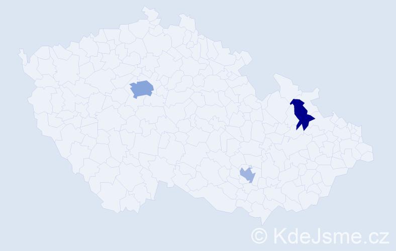 Příjmení: 'Focko', počet výskytů 6 v celé ČR