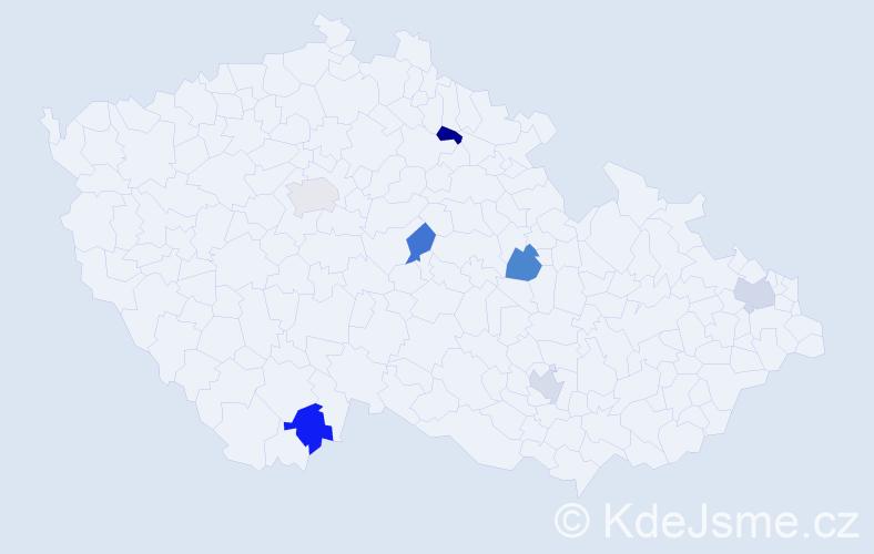 Příjmení: 'Edwardsová', počet výskytů 7 v celé ČR