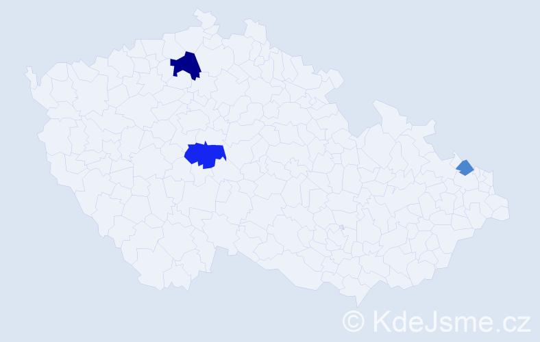 Příjmení: 'Jabčanka', počet výskytů 6 v celé ČR