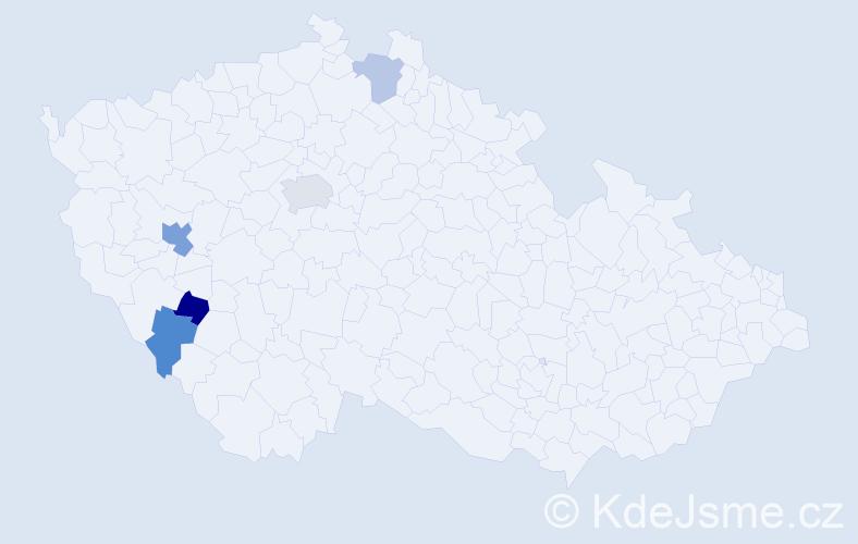 Příjmení: 'Grieszl', počet výskytů 8 v celé ČR