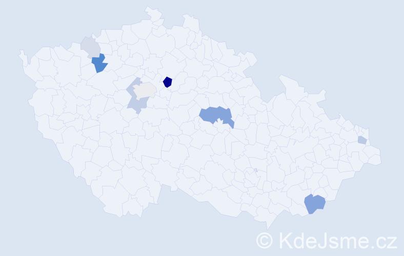 Příjmení: 'Kotvasová', počet výskytů 22 v celé ČR
