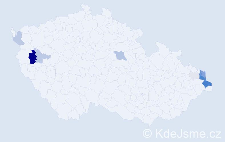 Příjmení: 'Filipiak', počet výskytů 28 v celé ČR