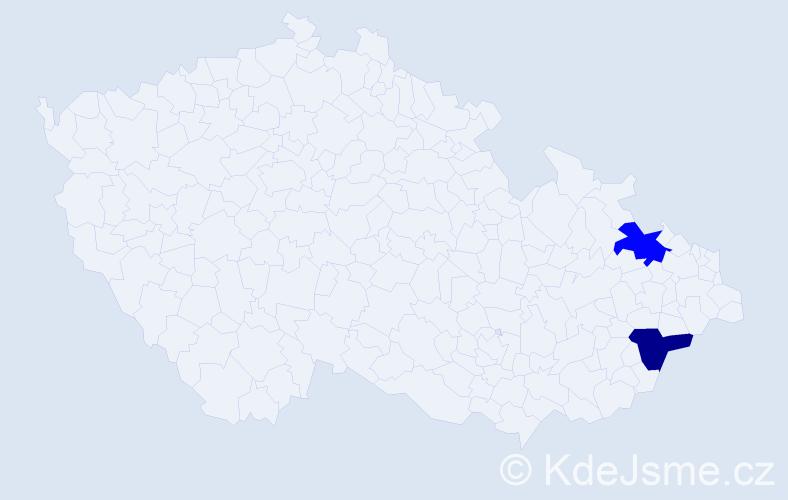 Příjmení: 'Kamaladevi', počet výskytů 2 v celé ČR
