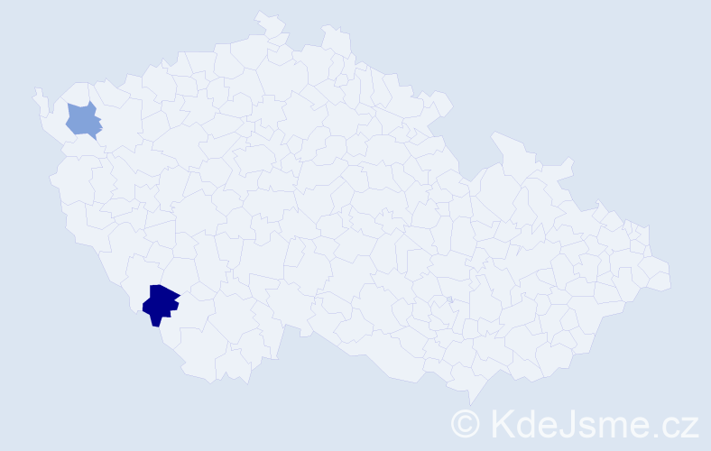 Příjmení: 'Emmich', počet výskytů 2 v celé ČR