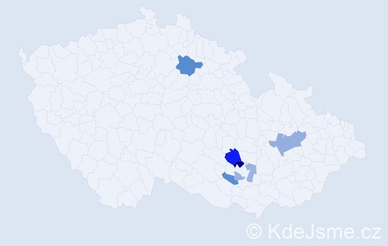 Příjmení: 'Fadingerová', počet výskytů 10 v celé ČR