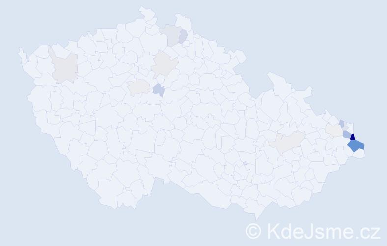 Příjmení: 'Jaworská', počet výskytů 53 v celé ČR