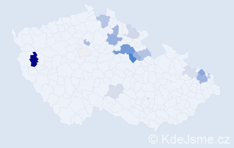 Příjmení: 'Ende', počet výskytů 38 v celé ČR