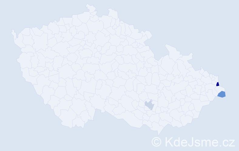 Příjmení: 'Kaper', počet výskytů 6 v celé ČR