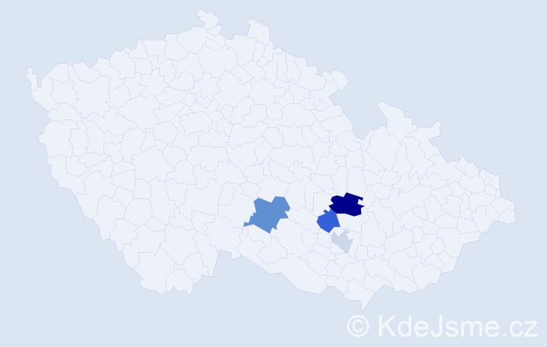 Příjmení: 'Gerbrich', počet výskytů 7 v celé ČR