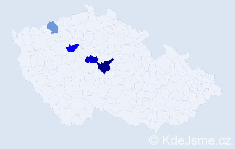 Příjmení: 'Cirkva', počet výskytů 8 v celé ČR