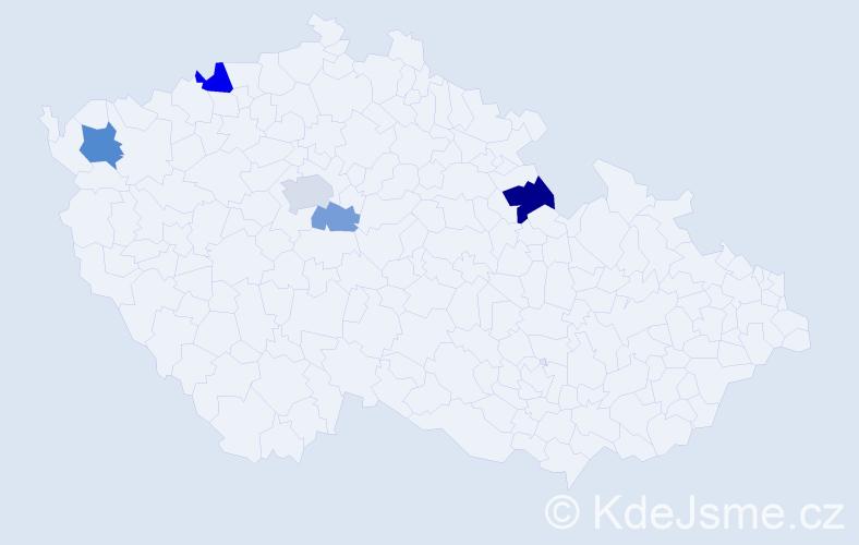 Příjmení: 'Čuchran', počet výskytů 9 v celé ČR