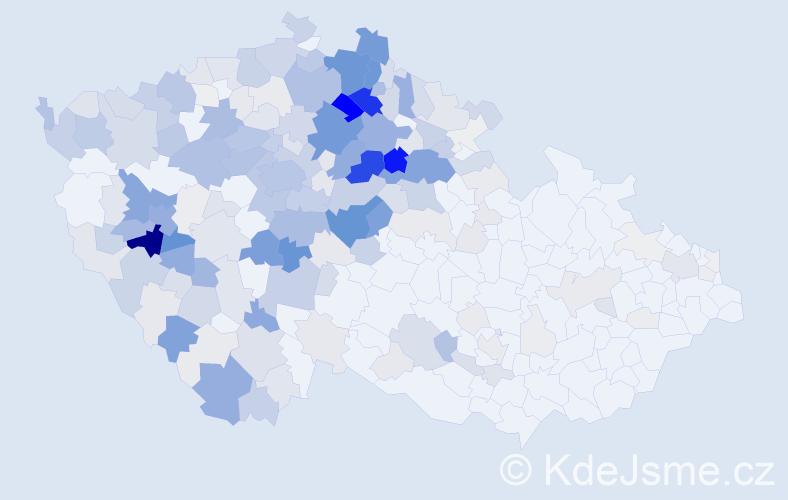 Příjmení: 'Loudová', počet výskytů 1118 v celé ČR