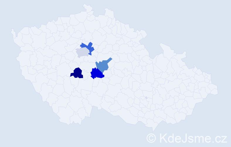 Příjmení: 'Gresserová', počet výskytů 7 v celé ČR
