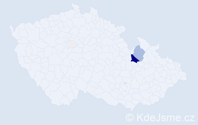 Příjmení: 'Enter', počet výskytů 10 v celé ČR