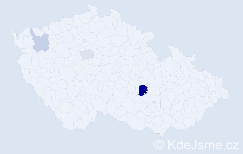 Příjmení: 'Höppner', počet výskytů 8 v celé ČR