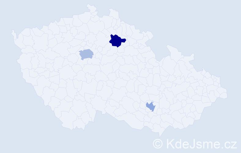 Příjmení: 'Ižariková', počet výskytů 4 v celé ČR