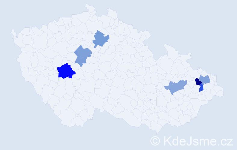 Příjmení: 'Caizlová', počet výskytů 16 v celé ČR