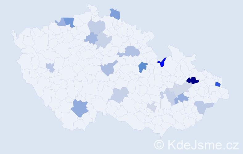Příjmení: 'Baranovič', počet výskytů 37 v celé ČR