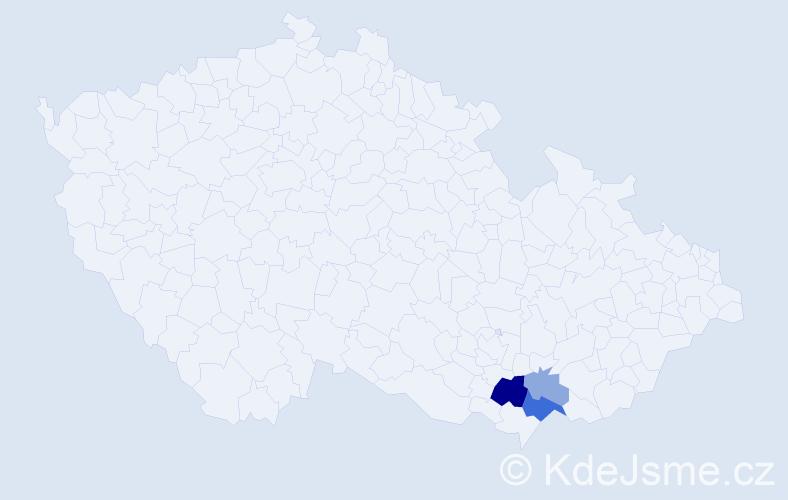 Příjmení: 'Laigotová', počet výskytů 7 v celé ČR