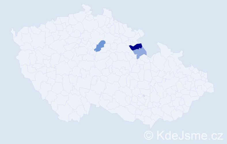 Příjmení: 'Jakica', počet výskytů 6 v celé ČR