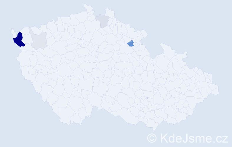 Příjmení: 'Flaksa', počet výskytů 27 v celé ČR
