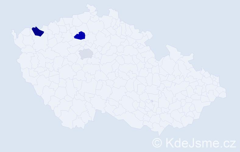 Příjmení: 'Idelbeková', počet výskytů 3 v celé ČR