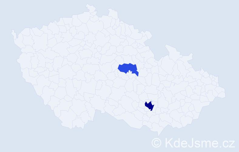 Příjmení: 'Kopčániová', počet výskytů 6 v celé ČR