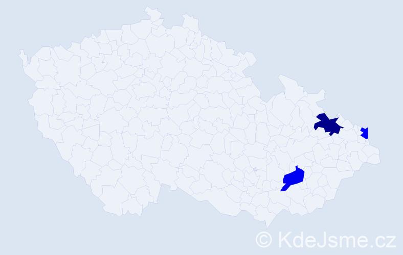 Příjmení: 'Madea', počet výskytů 7 v celé ČR