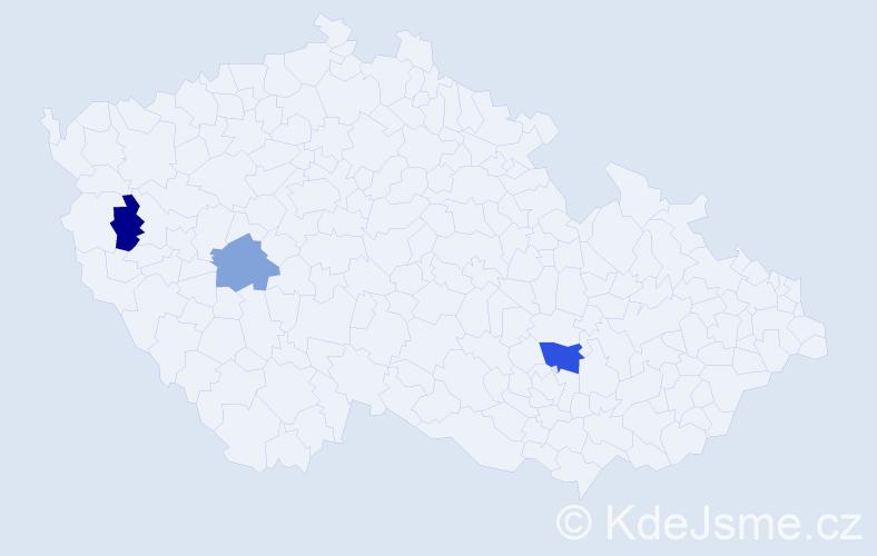 Příjmení: 'Hrivík', počet výskytů 4 v celé ČR