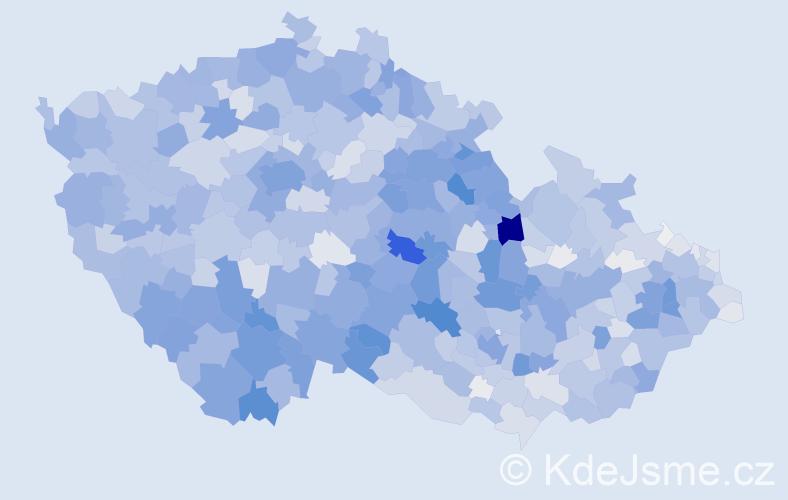 Příjmení: 'Marková', počet výskytů 11746 v celé ČR